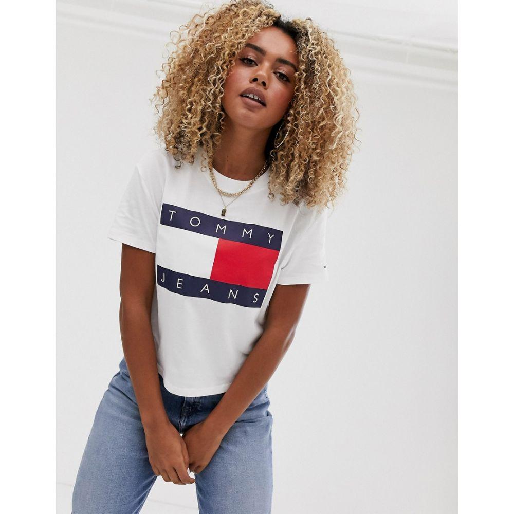 トミー ジーンズ Tommy Jeans レディース Tシャツ トップス【flag t-shirt in white】Classic white