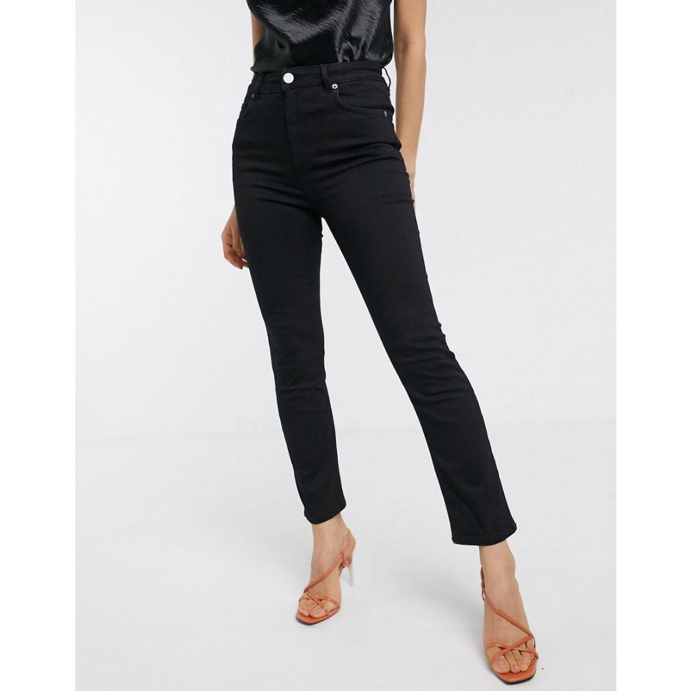 エイソス ASOS DESIGN レディース ジーンズ・デニム ボトムス・パンツ【Super high rise sculpting 'sassy' cigarette jeans in black】Black
