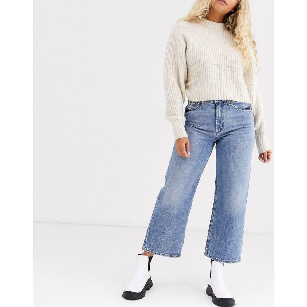 モンキー Monki レディース ジーンズ・デニム ワイドパンツ ボトムス・パンツ【Mozik wide leg organic cotton jeans in vintage blue】Blue