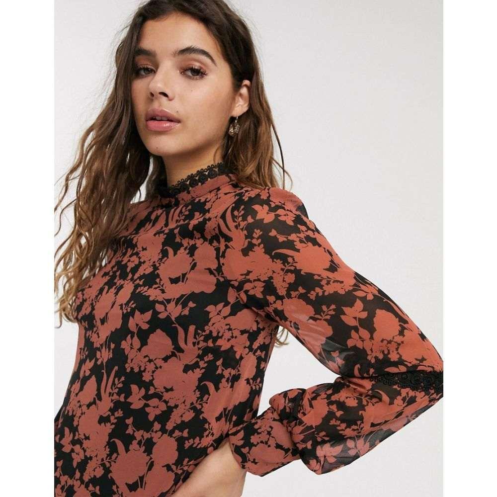 オアシス Oasis レディース ブラウス・シャツ トップス【floral print blouse in black】Multi black