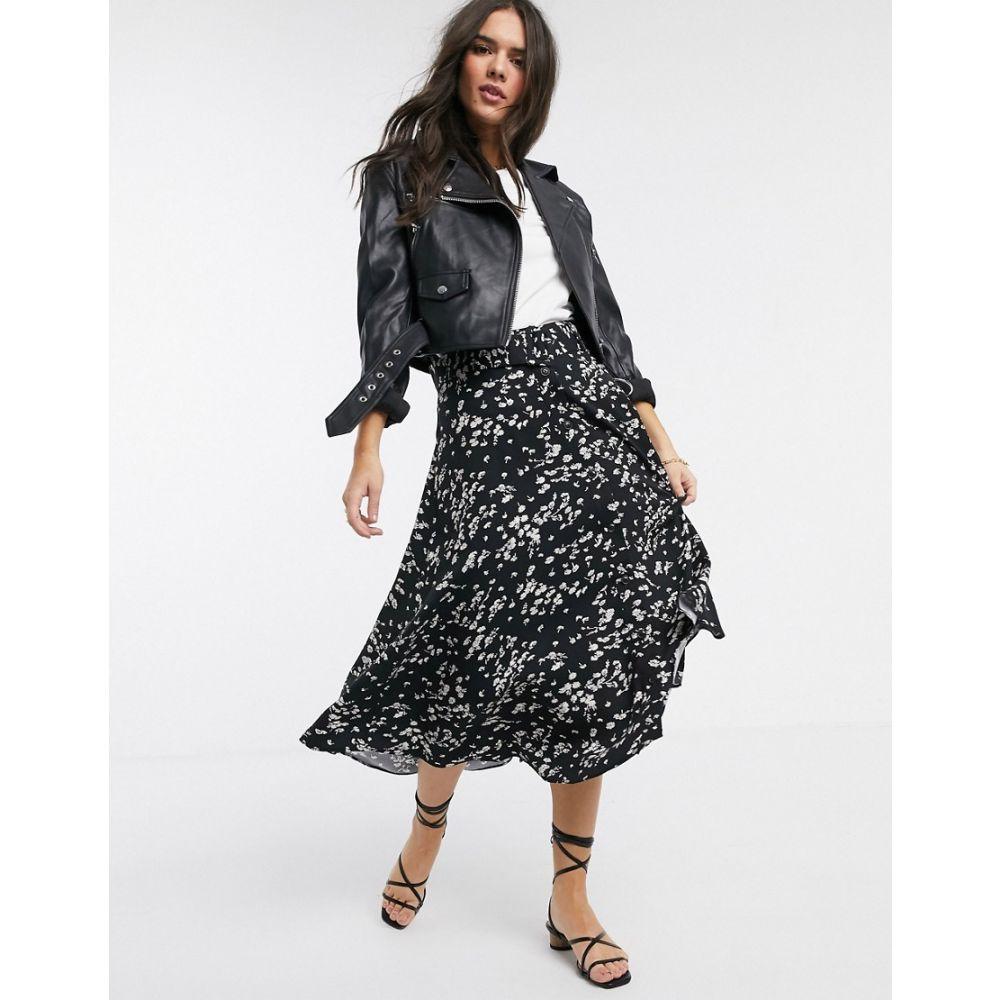 ウェアハウス Warehouse レディース ひざ丈スカート スカート【daisy print belted midi skirt】Multi