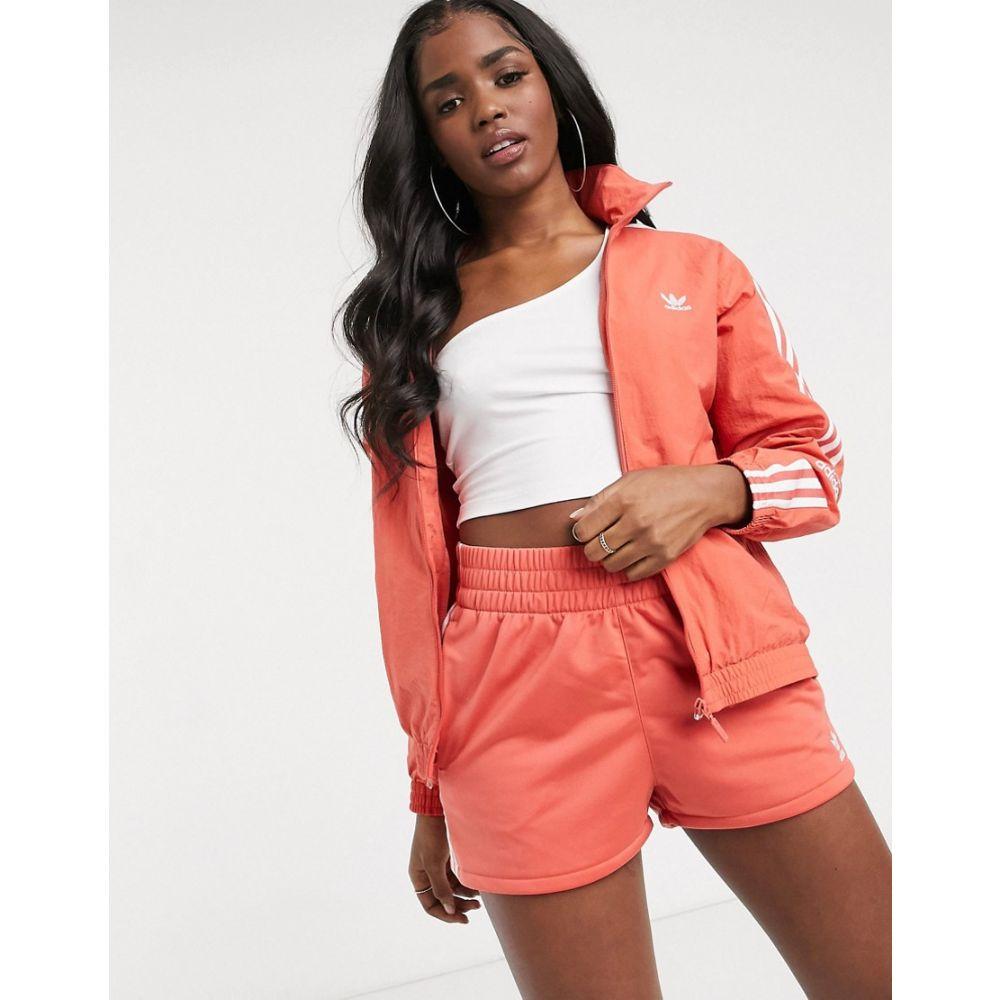 アディダス adidas Originals レディース ジャージ アウター【Locked Up logo track jacket in coral】Coral