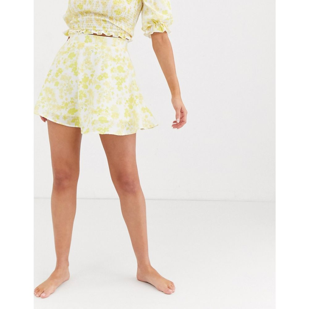 チャーリー ホリデー Charlie Holiday レディース ミニスカート スカート【floaty mini skirt in yellow and white floral】Daisy floral