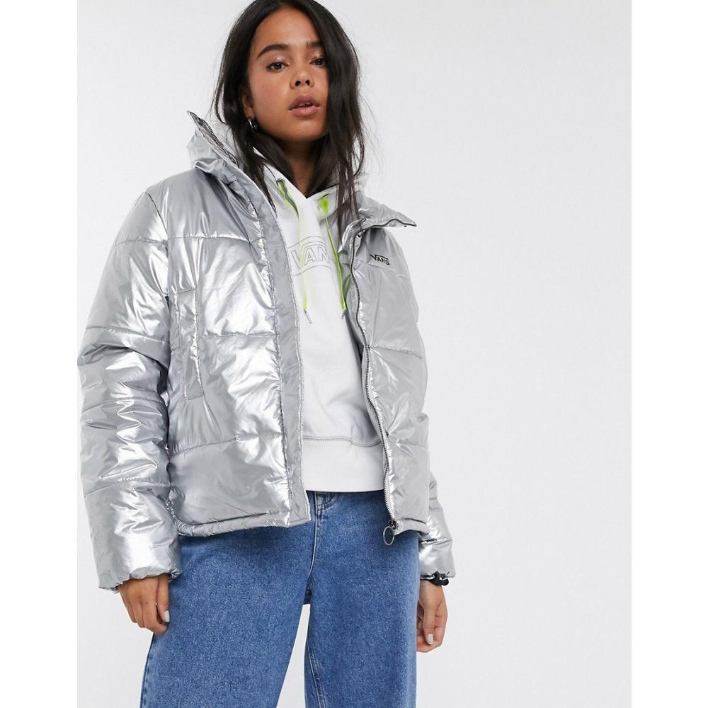ヴァンズ Vans レディース ジャケット アウター【Galactic Spiral Metallic Jacket in metallic silver】Metallic silver