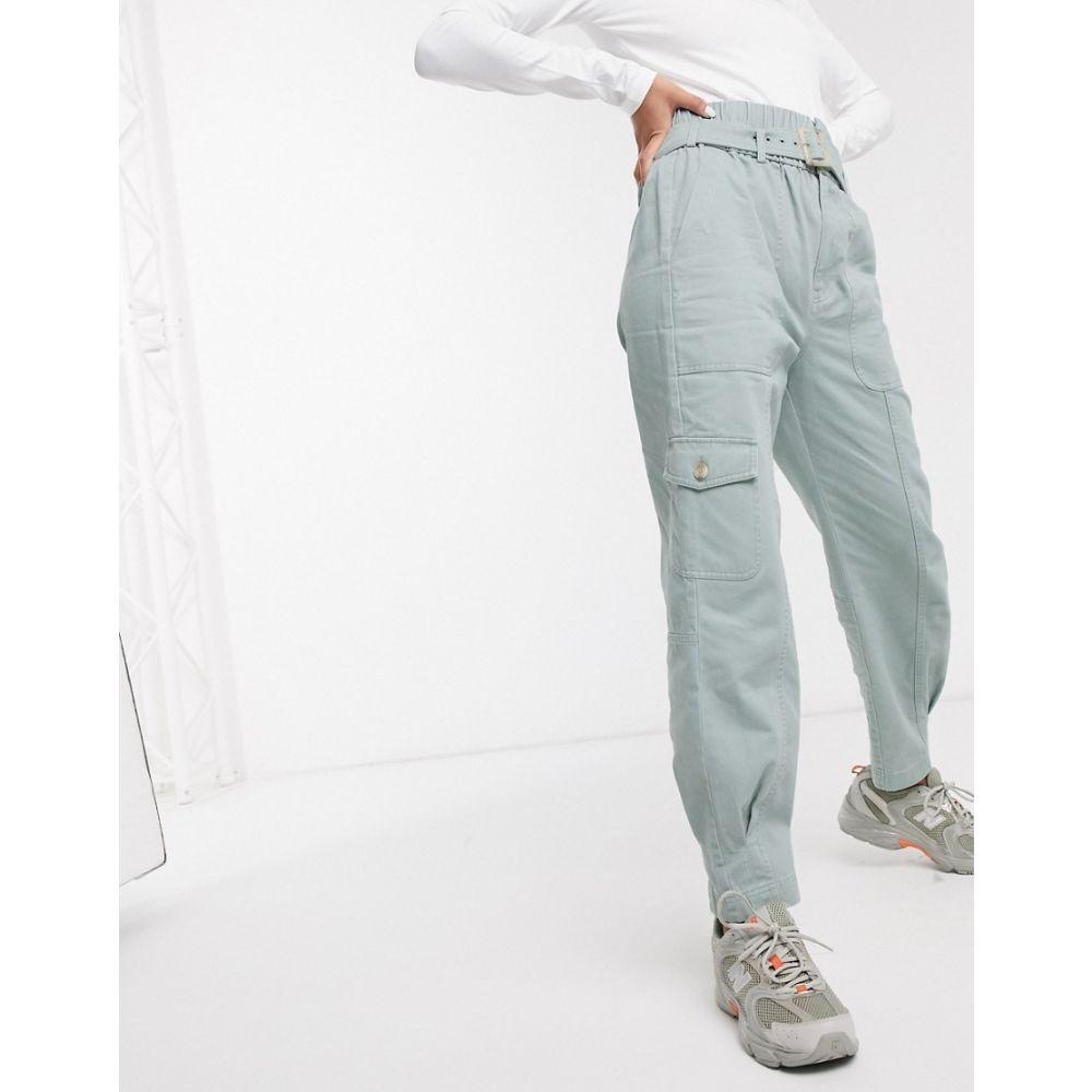 アンドアザーストーリーズ & Other Stories レディース ボトムス・パンツ 【belted tapered utility trousers in faded green】Faded green