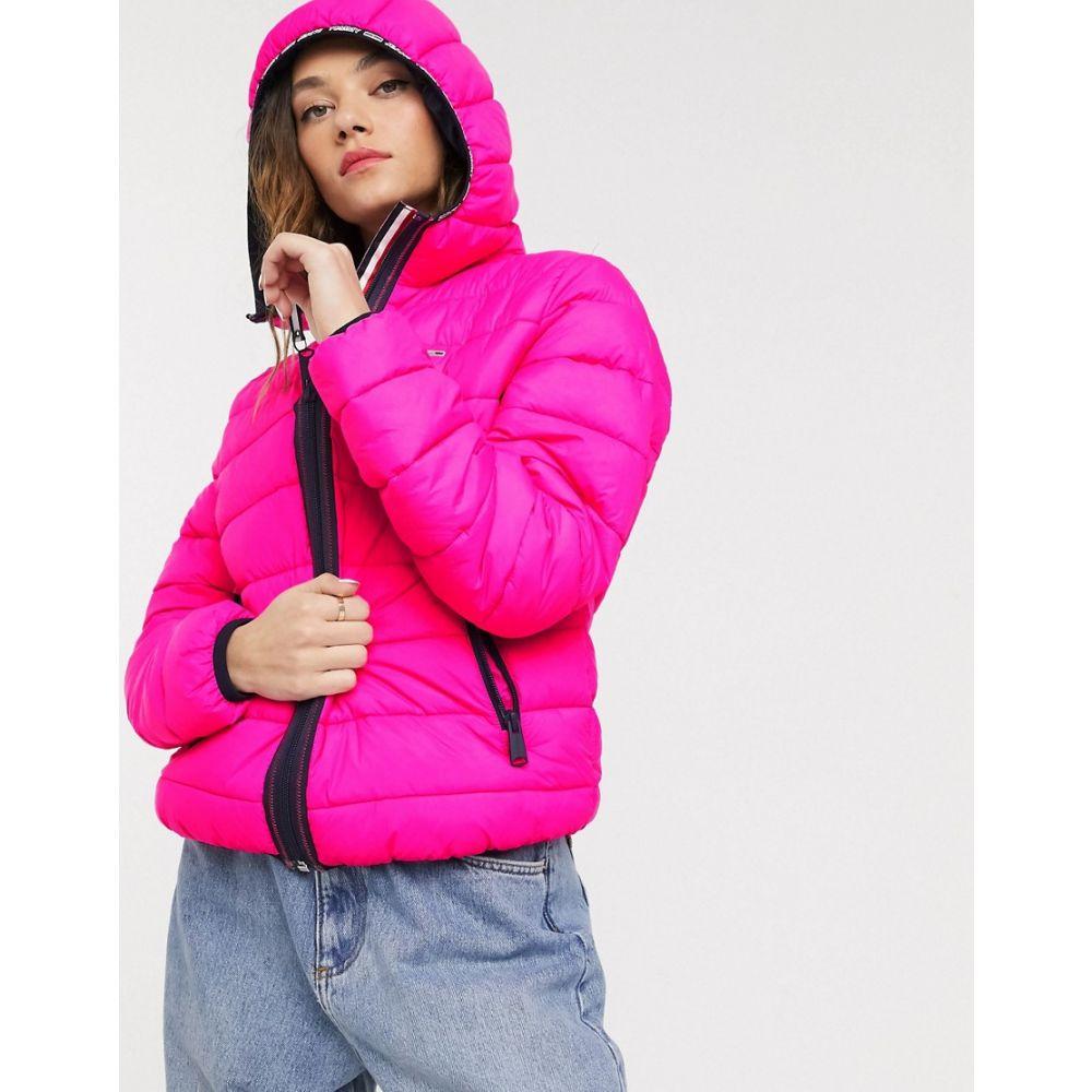 トミー ジーンズ Tommy Jeans レディース ダウン・中綿ジャケット アウター【quilt detail padded jacket】Pink glo