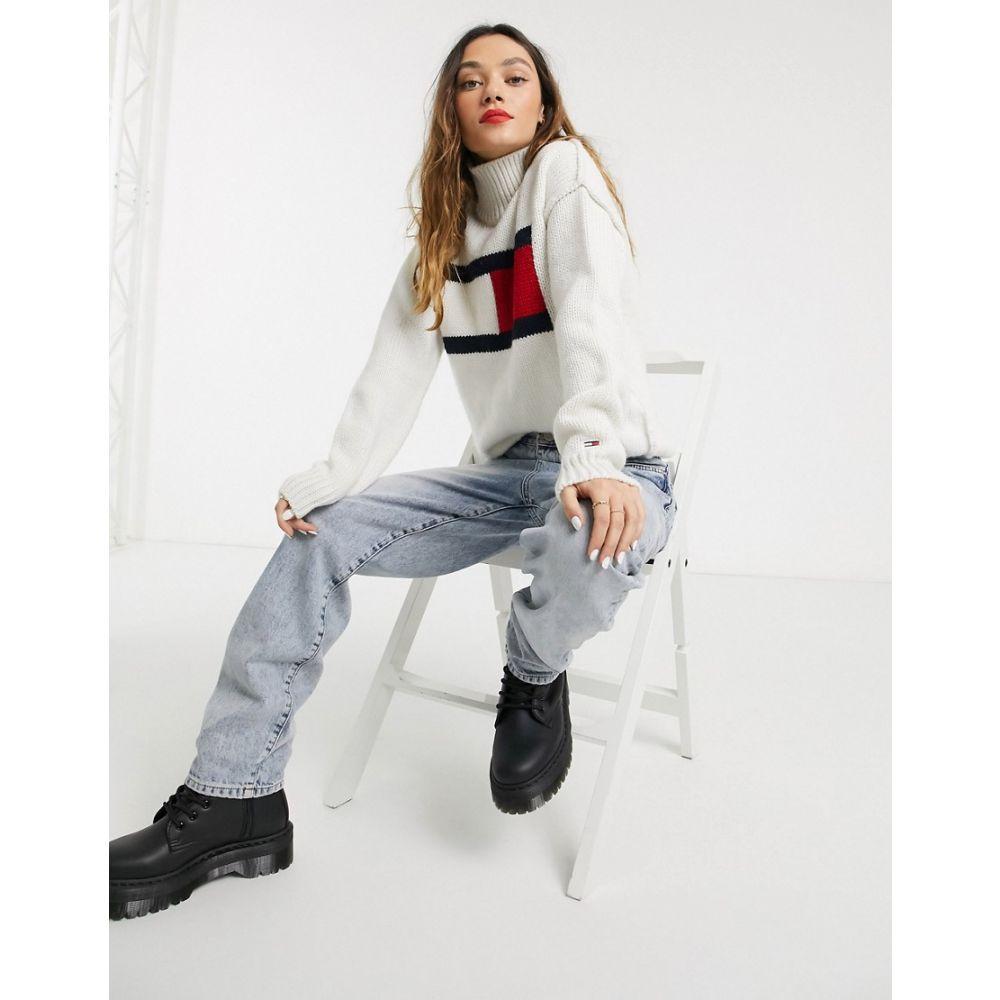 トミー ジーンズ Tommy Jeans レディース ニット・セーター トップス【flag knit jumper】Snow white