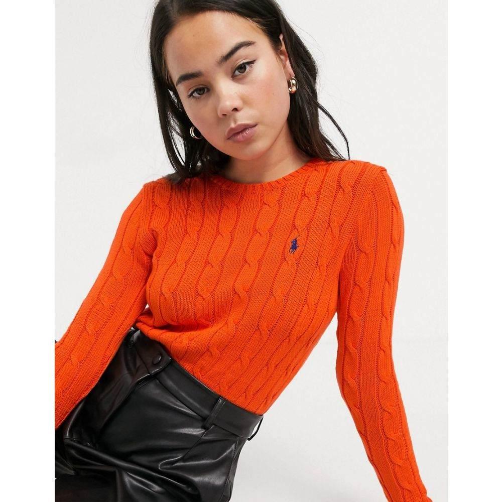 ラルフ ローレン Polo Ralph Lauren レディース ニット・セーター トップス【round neck knit jumper in orange】Tie orange