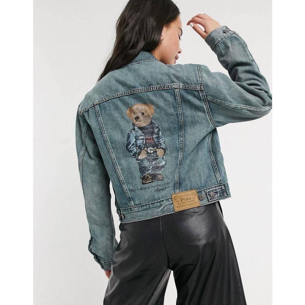 ラルフ ローレン Polo Ralph Lauren レディース ジャケット Gジャン アウター【teddy denim jacket】Medium indigo