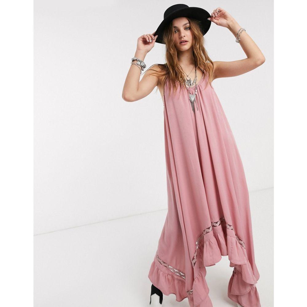 フリーピープル Free People レディース ワンピース スリップドレス マキシ丈 ワンピース・ドレス【amor amor maxi slip dress】Pink