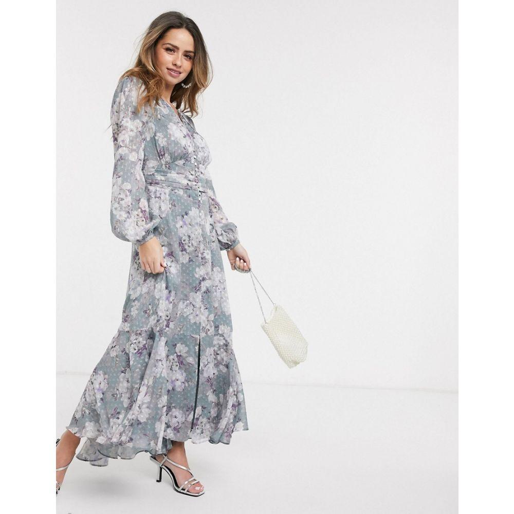 フォーエバーニュー Forever New レディース ワンピース ワンピース・ドレス【buttoned dobby midaxi dress in floral print】Multi