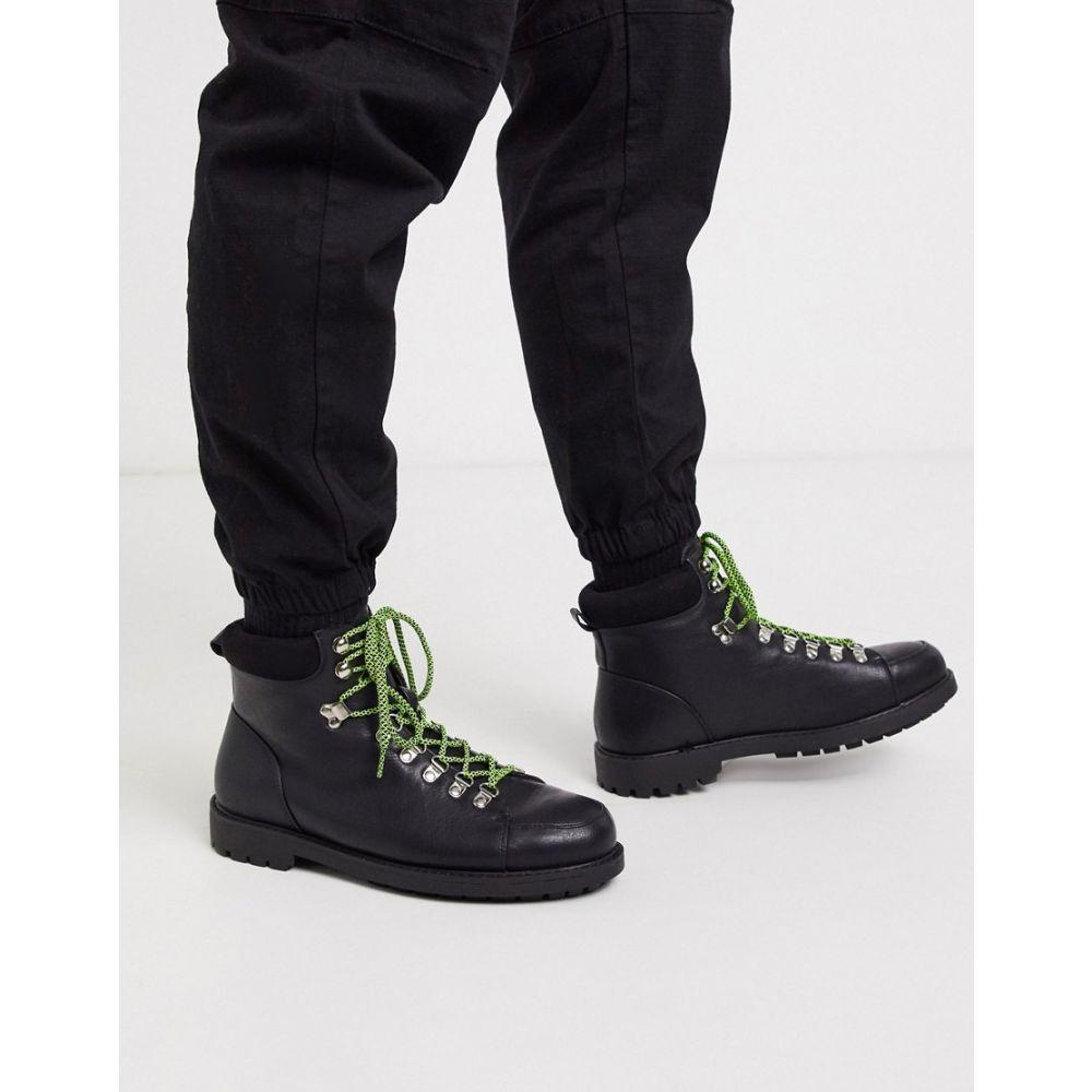 トリュフコレクション Truffle Collection メンズ ハイキング・登山 ブーツ シューズ・靴【hiker boot in black】Black
