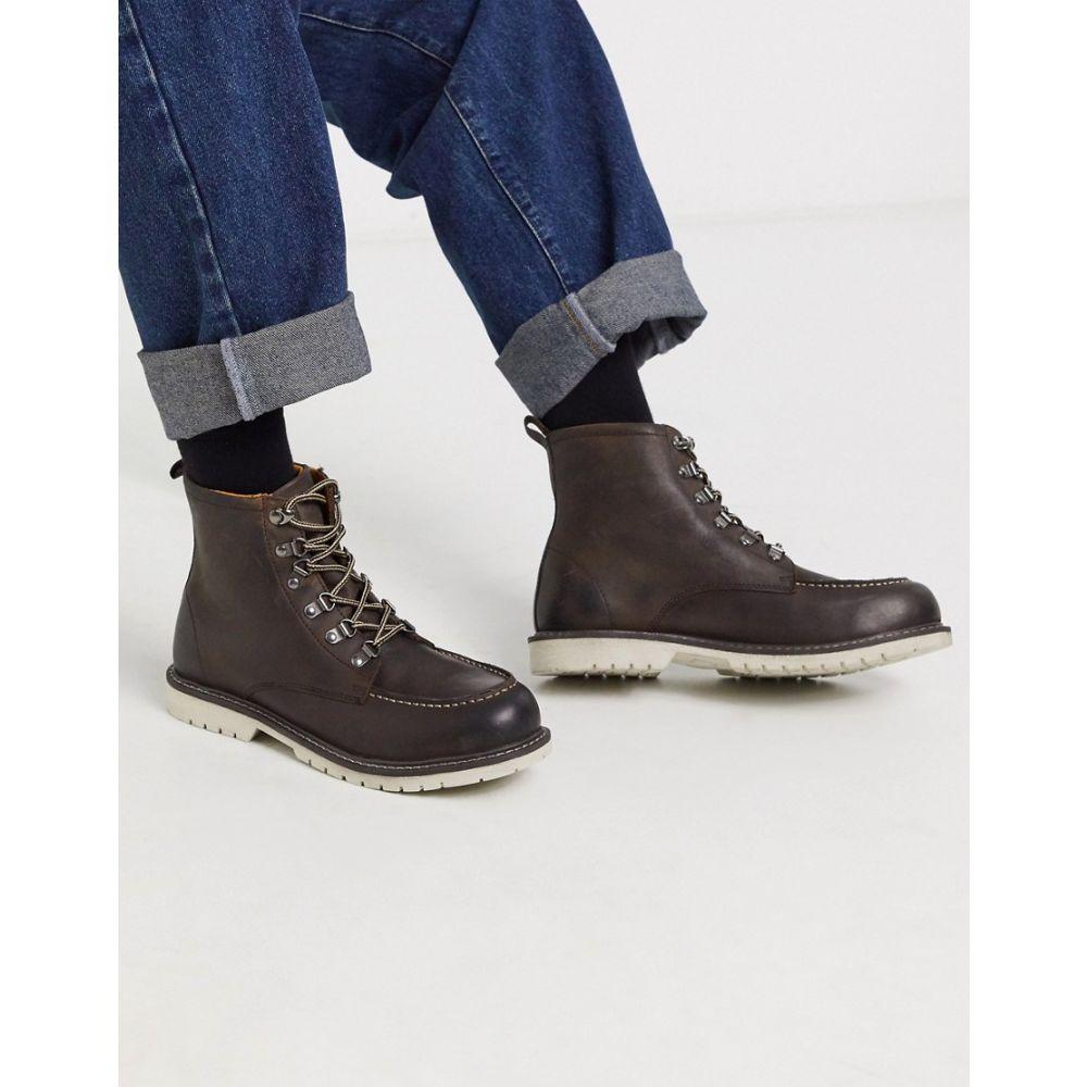 ルールロンドン Rule London メンズ ハイキング・登山 レースアップブーツ シューズ・靴【hiker lace up leather boot in brown】Brown