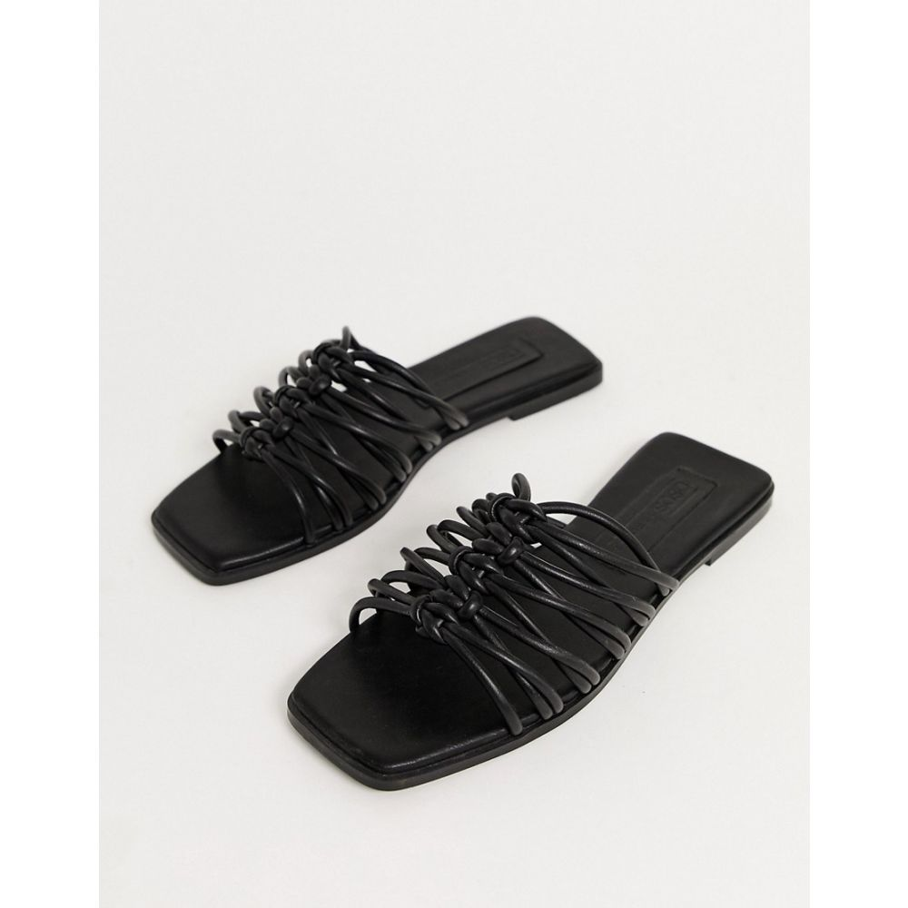 エイソス ASOS DESIGN レディース サンダル・ミュール シューズ・靴【Frankfurt multi knot mule sandals in black】Black