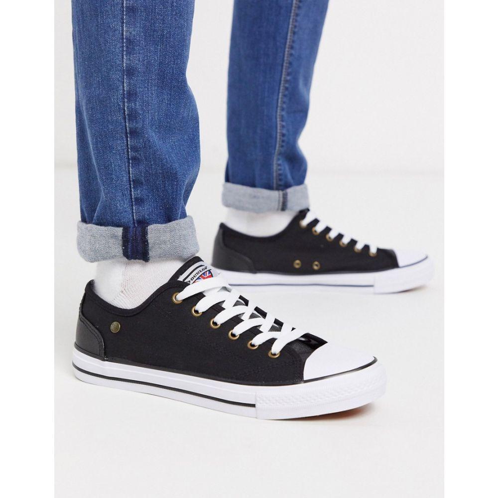 ダンロップ Dunlop メンズ スニーカー レースアップ シューズ・靴【lace up plimsolls in black】Black