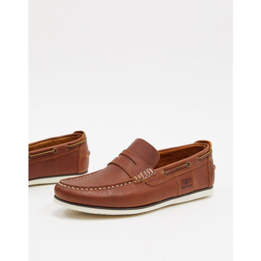 バブアー Barbour メンズ デッキシューズ シューズ・靴【Keel leather boat shoes in tan】Tan