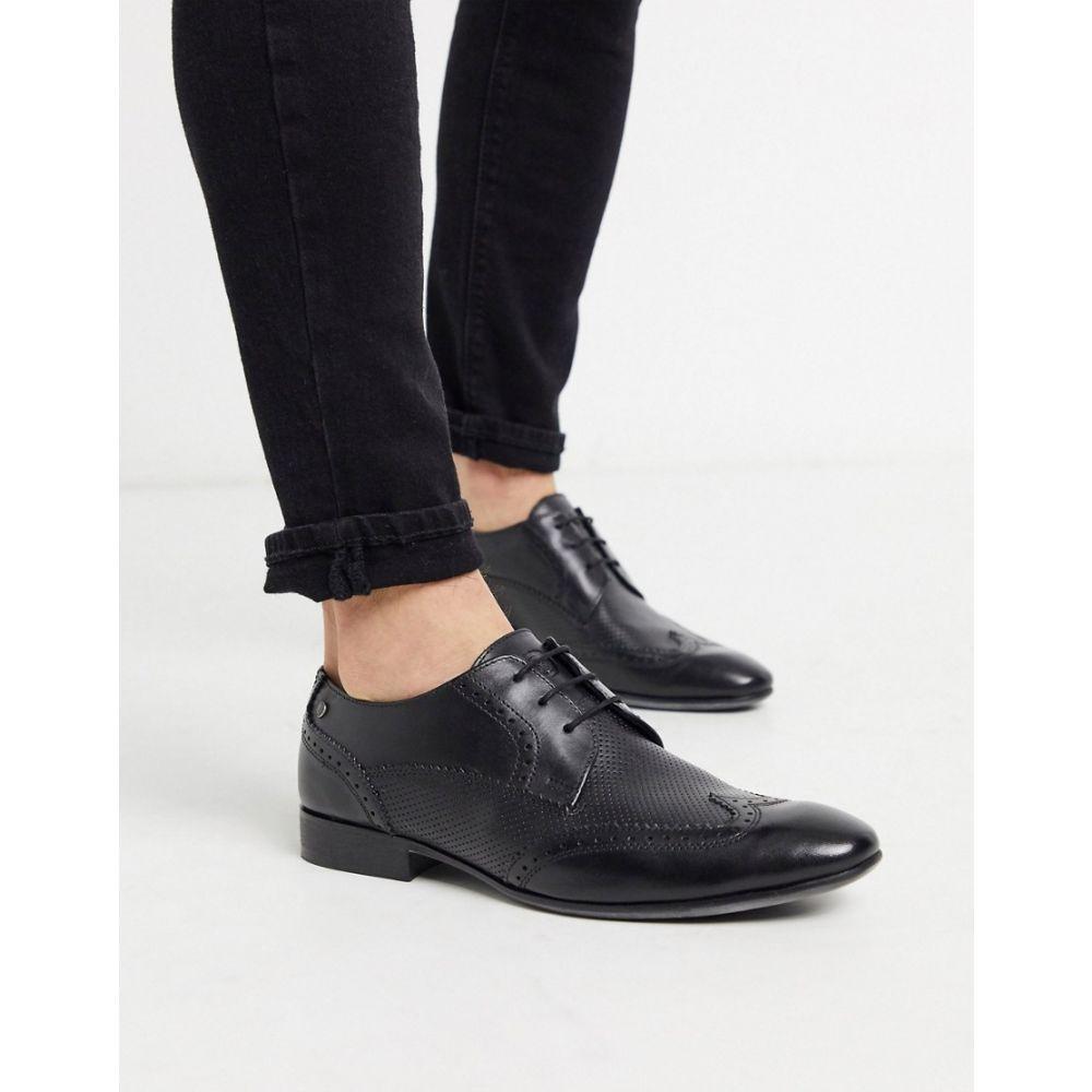 ベース ロンドン Base London メンズ 革靴・ビジネスシューズ メダリオン シューズ・靴【Base london philby wing cap brogues in black】Black