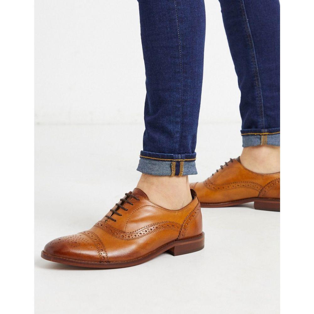 ベース ロンドン Base London メンズ 革靴・ビジネスシューズ シューズ・靴【Base london cast brogues in tan leather】Tan