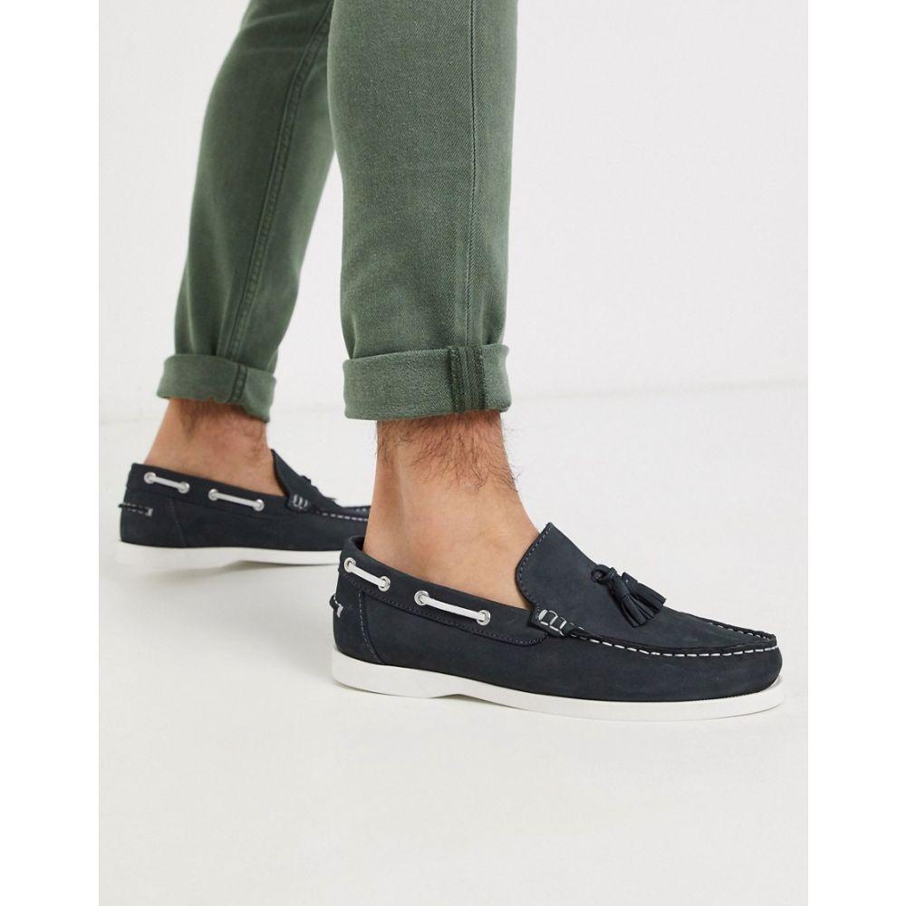 ルールロンドン Rule London メンズ デッキシューズ シューズ・靴【tassle boat shoe in navy】Navy