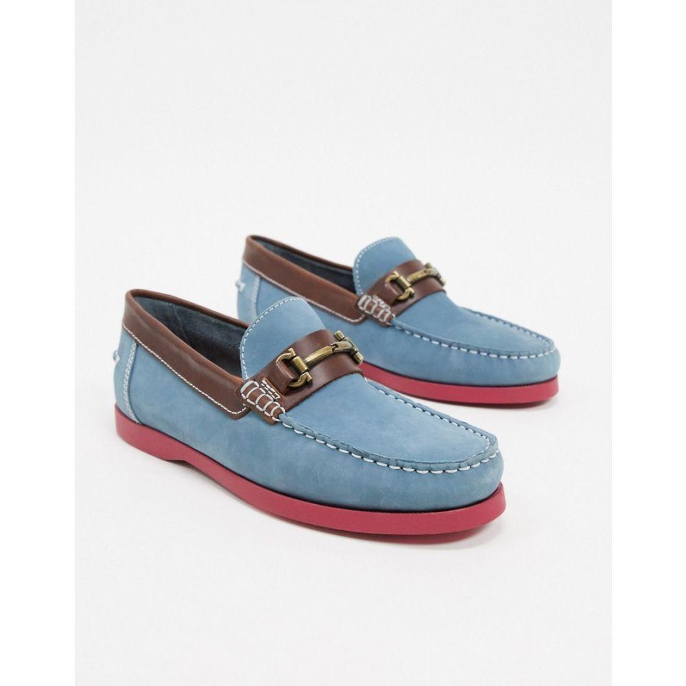 ルールロンドン Rule London メンズ デッキシューズ シューズ・靴【metal buckle boat shoe in blue】Blue