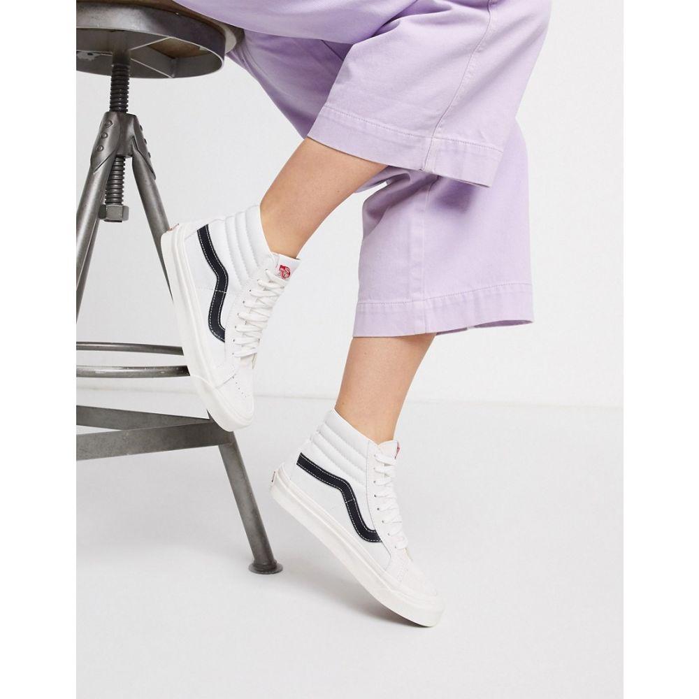 ヴァンズ Vans レディース スニーカー シューズ・靴【Anaheim SK8-Hi 38 DX trainers in white/black】