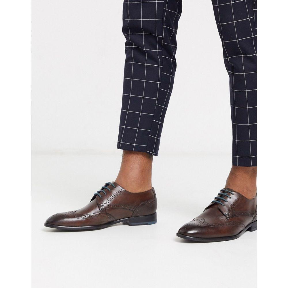 テッドベーカー Ted Baker メンズ 革靴・ビジネスシューズ メダリオン シューズ・靴【Trvss brogue in brown】Brown