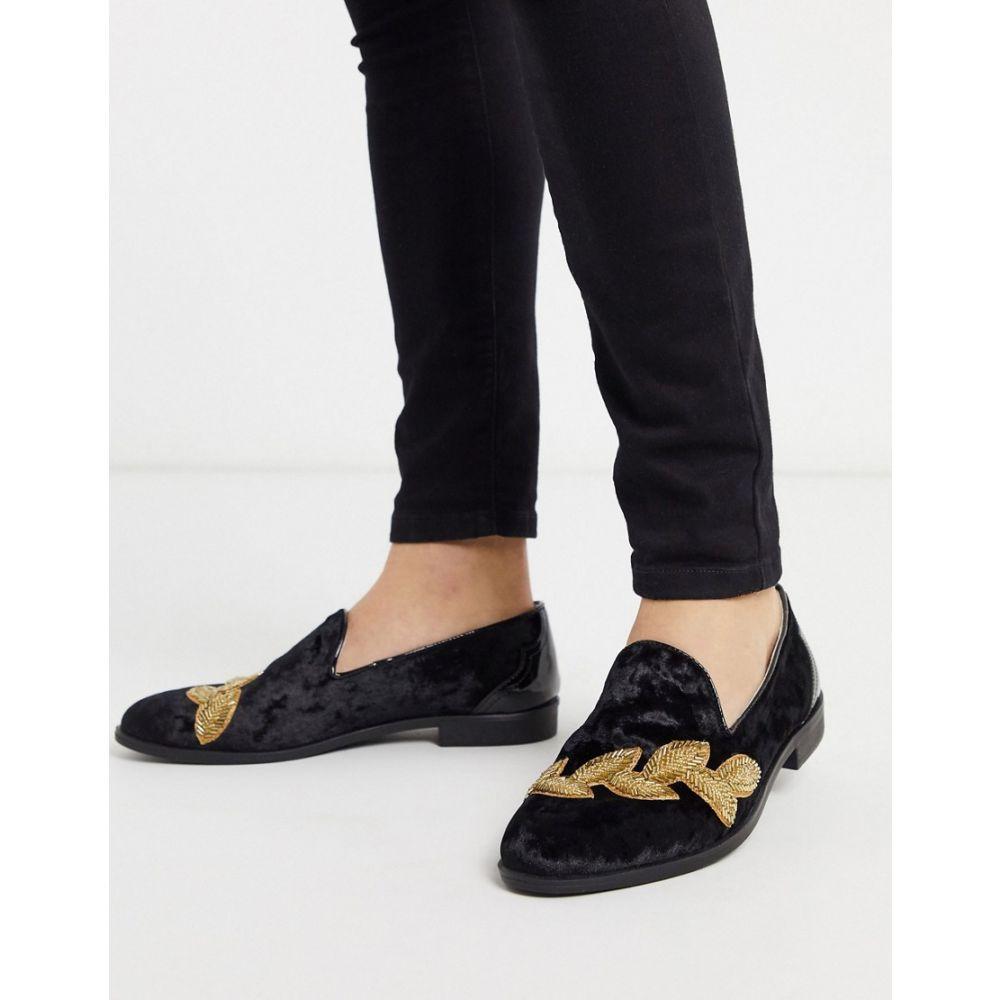 ハウスオブハウンズ House of Hounds メンズ ローファー シューズ・靴【Styx embroided loafers in black】Black