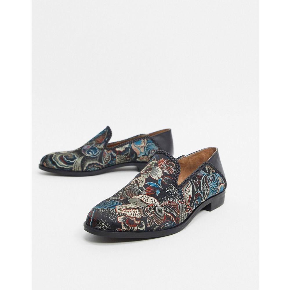 ハウスオブハウンズ House of Hounds メンズ ローファー シューズ・靴【storm brocade loafers swirl】Black