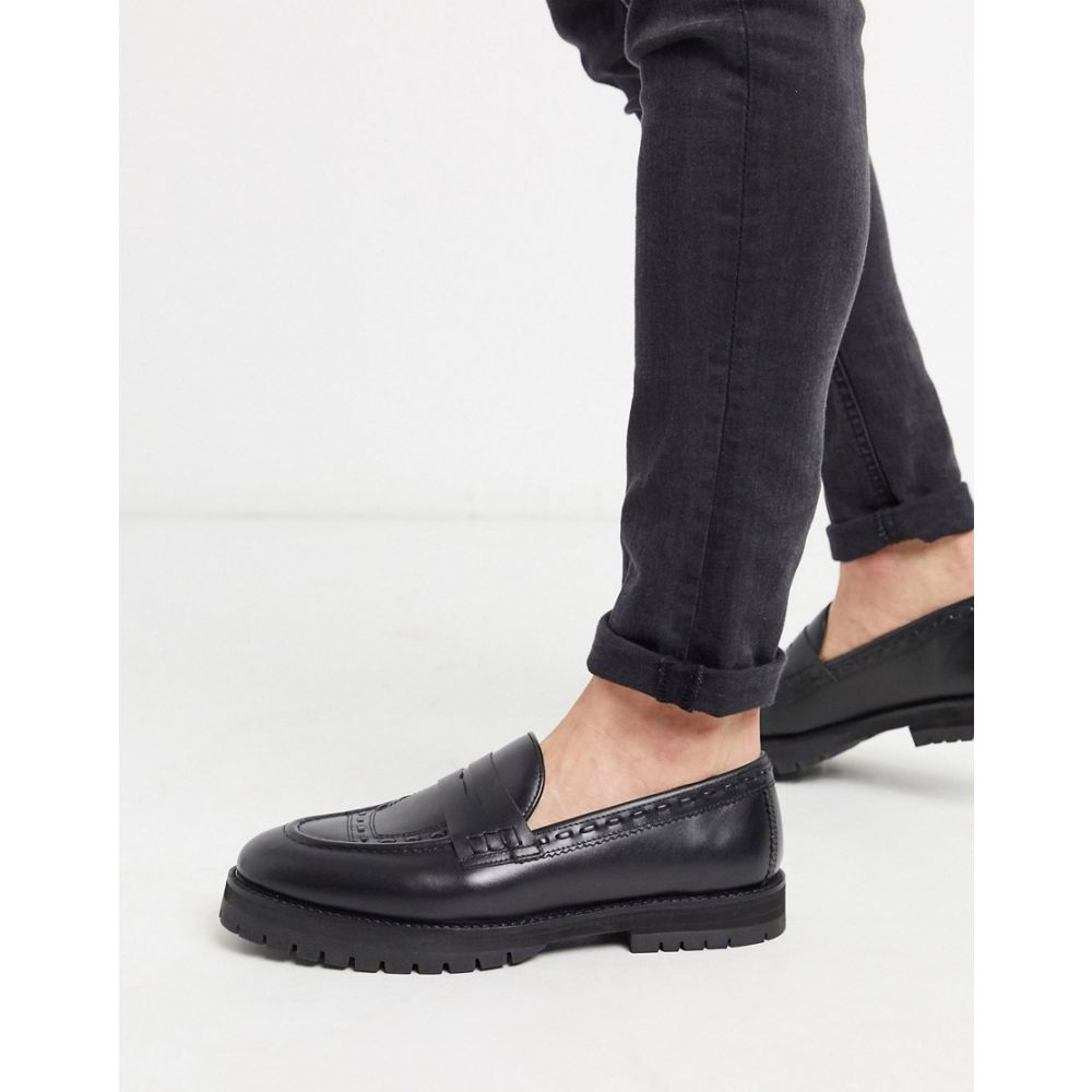 ハウスオブハウンズ House of Hounds メンズ ローファー チャンキーヒール シューズ・靴【rigal chunky loafers in black leather】Black