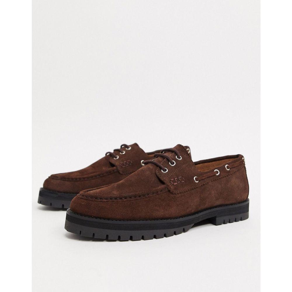 ハウスオブハウンズ House of Hounds メンズ デッキシューズ チャンキーヒール シューズ・靴【sirus chunky boat shoes in brown suede】Brown