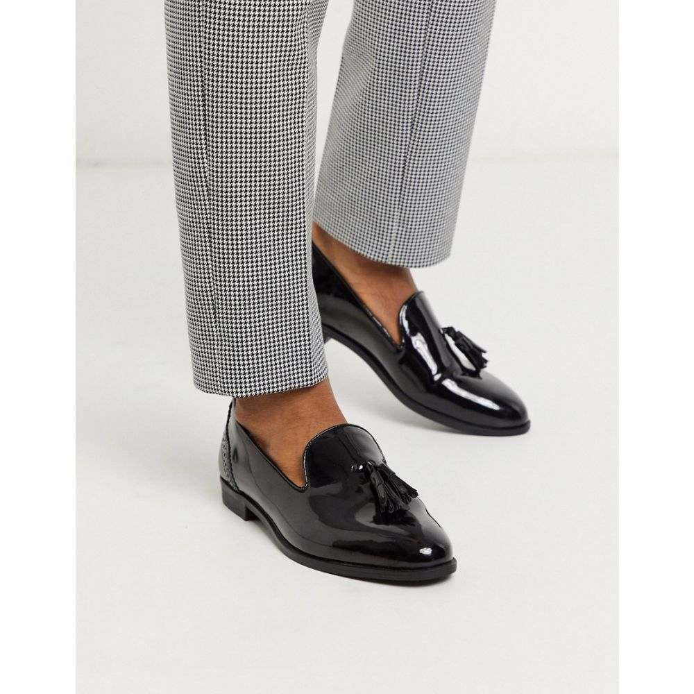 ハウスオブハウンズ House of Hounds メンズ ローファー シューズ・靴【arrow tassel loafers in black patent】Black