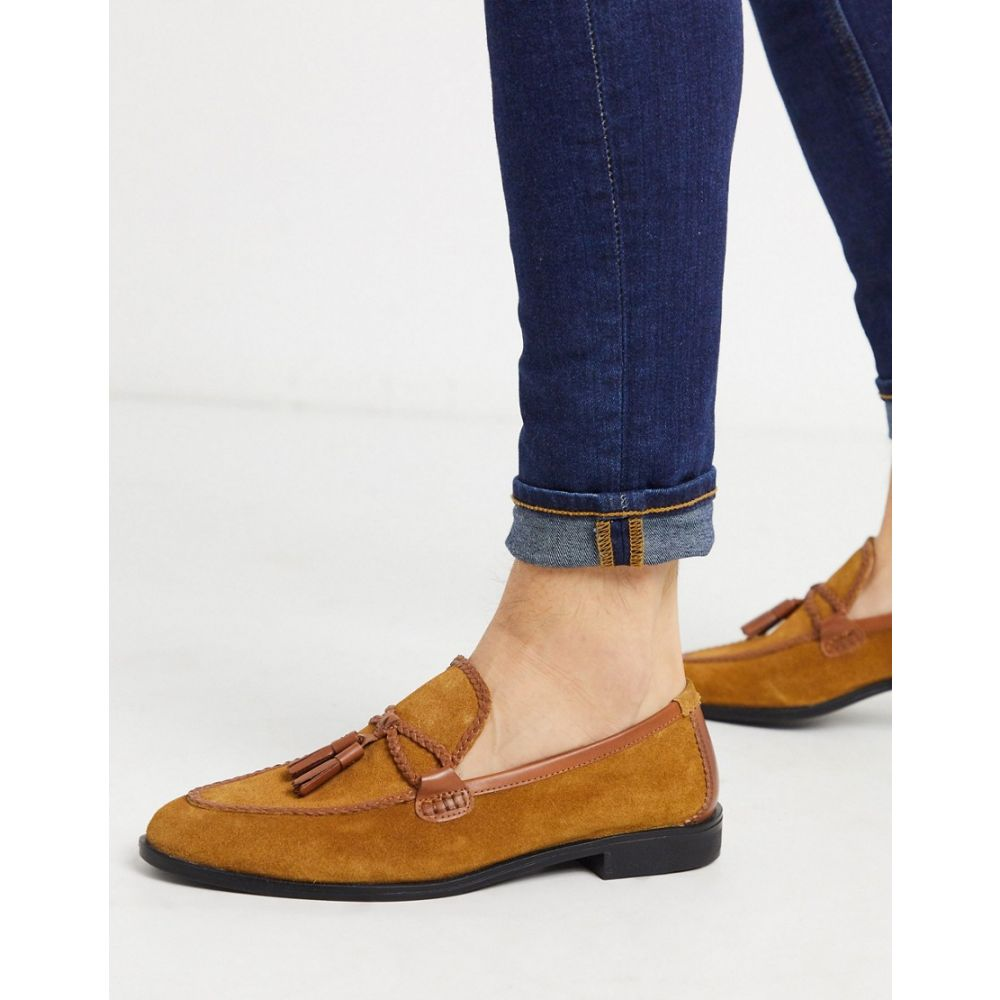 ハウスオブハウンズ House of Hounds メンズ ローファー シューズ・靴【helix loafers in tan suede】Tan