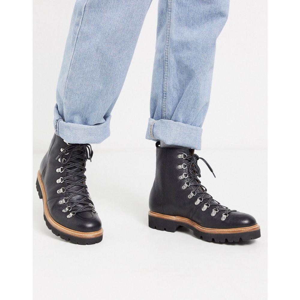 グレンソン Grenson メンズ ハイキング・登山 ブーツ シューズ・靴【brady hiker boots black oily leather】Black