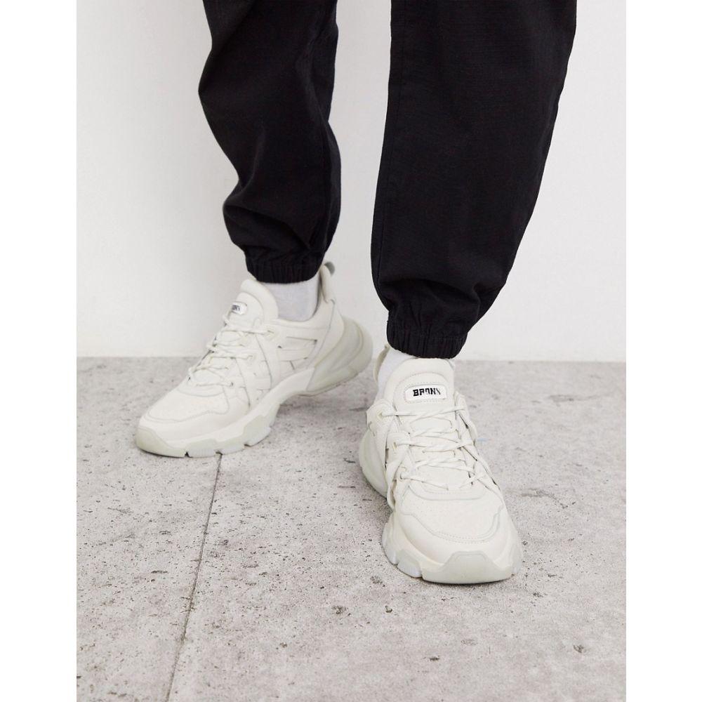 ブロンクス Bronx メンズ スニーカー チャンキーヒール シューズ・靴【sevety street trainers in cream with chunky sole】Cream