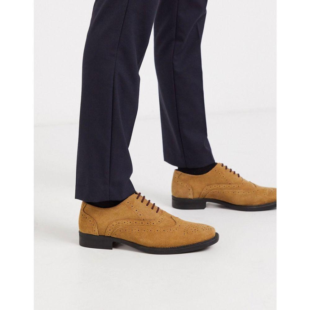 レッドフット Redfoot メンズ 革靴・ビジネスシューズ メダリオン シューズ・靴【tan suede oxford brogue shoe】Tan suede