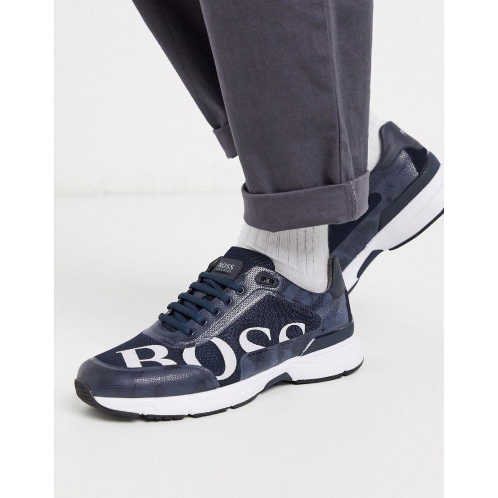 ヒューゴ ボス BOSS メンズ スニーカー シューズ・靴【Athleisure Velocity logo trainers】Blue