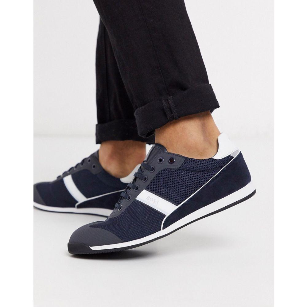 ヒューゴ ボス BOSS メンズ スニーカー シューズ・靴【Business Glaze trainers】Blue