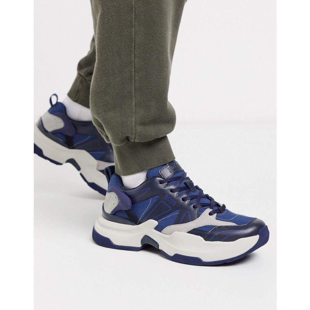 ヒューゴ ボス BOSS メンズ スニーカー シューズ・靴【Business Ranger trainers】Blue