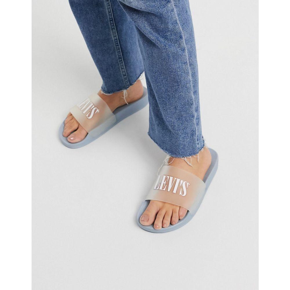 リーバイス Levi's レディース サンダル・ミュール シューズ・靴【clear logo detail slider】Light blue