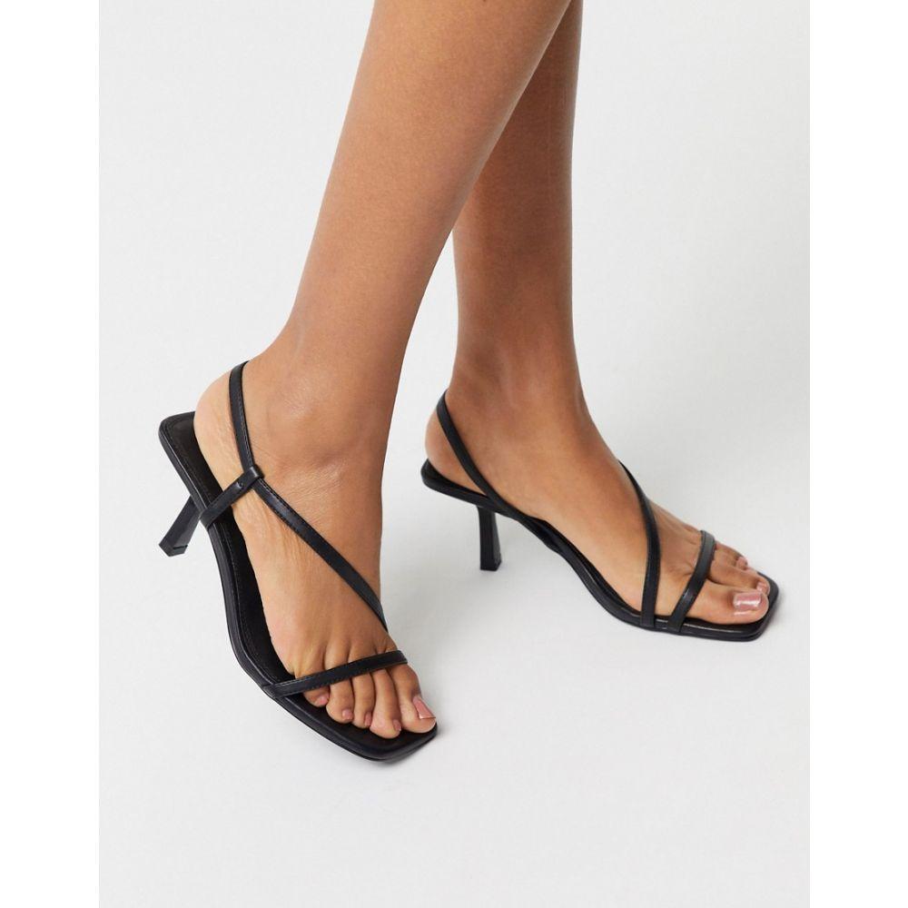 エイソス ASOS DESIGN レディース サンダル・ミュール シューズ・靴【Hammond strappy mid-heeled sandals in black】Black