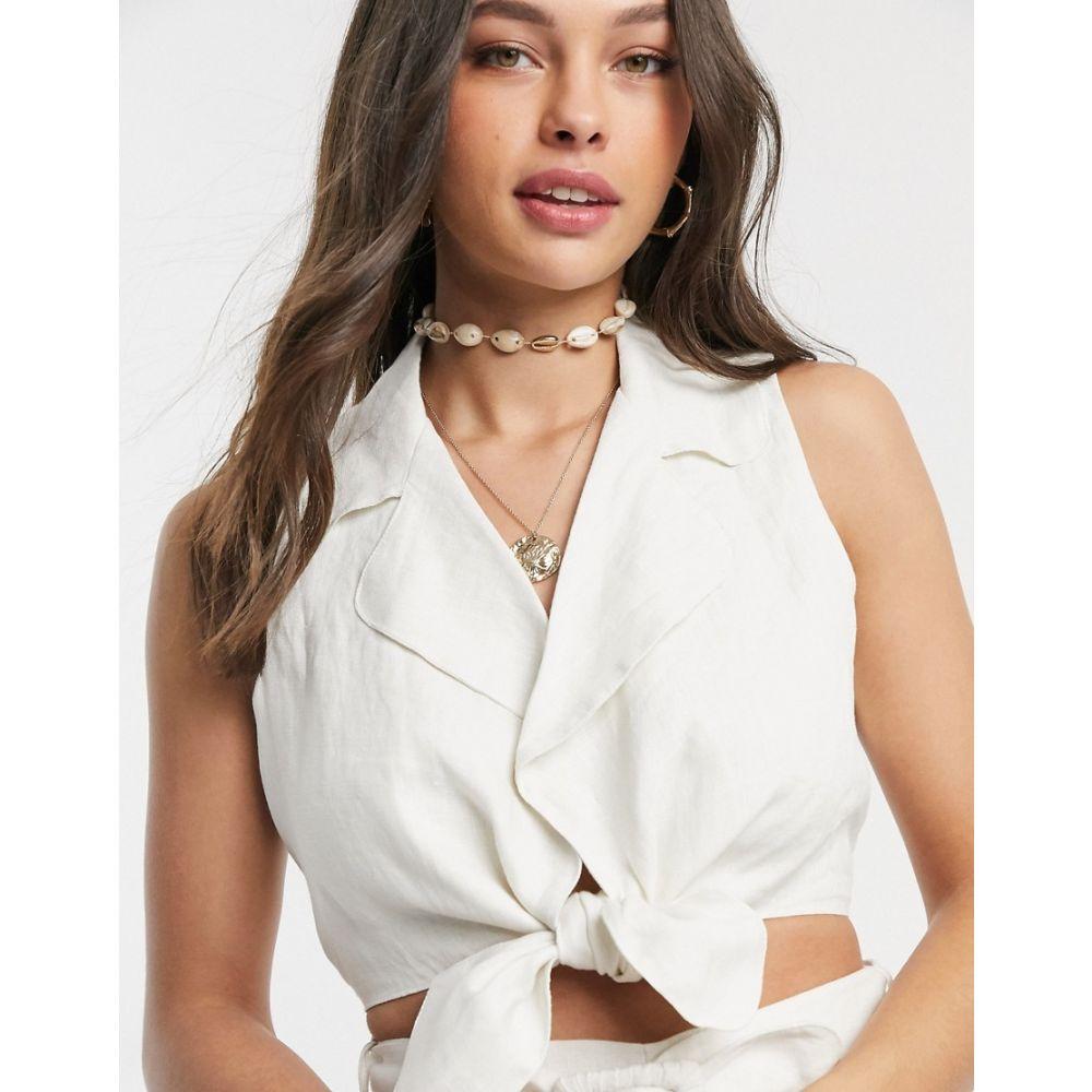 フェイスフルザブランド Faithfull the Brand レディース ブラウス・シャツ トップス【Faithfull fernanda linen tie front shirt】Plain egg white