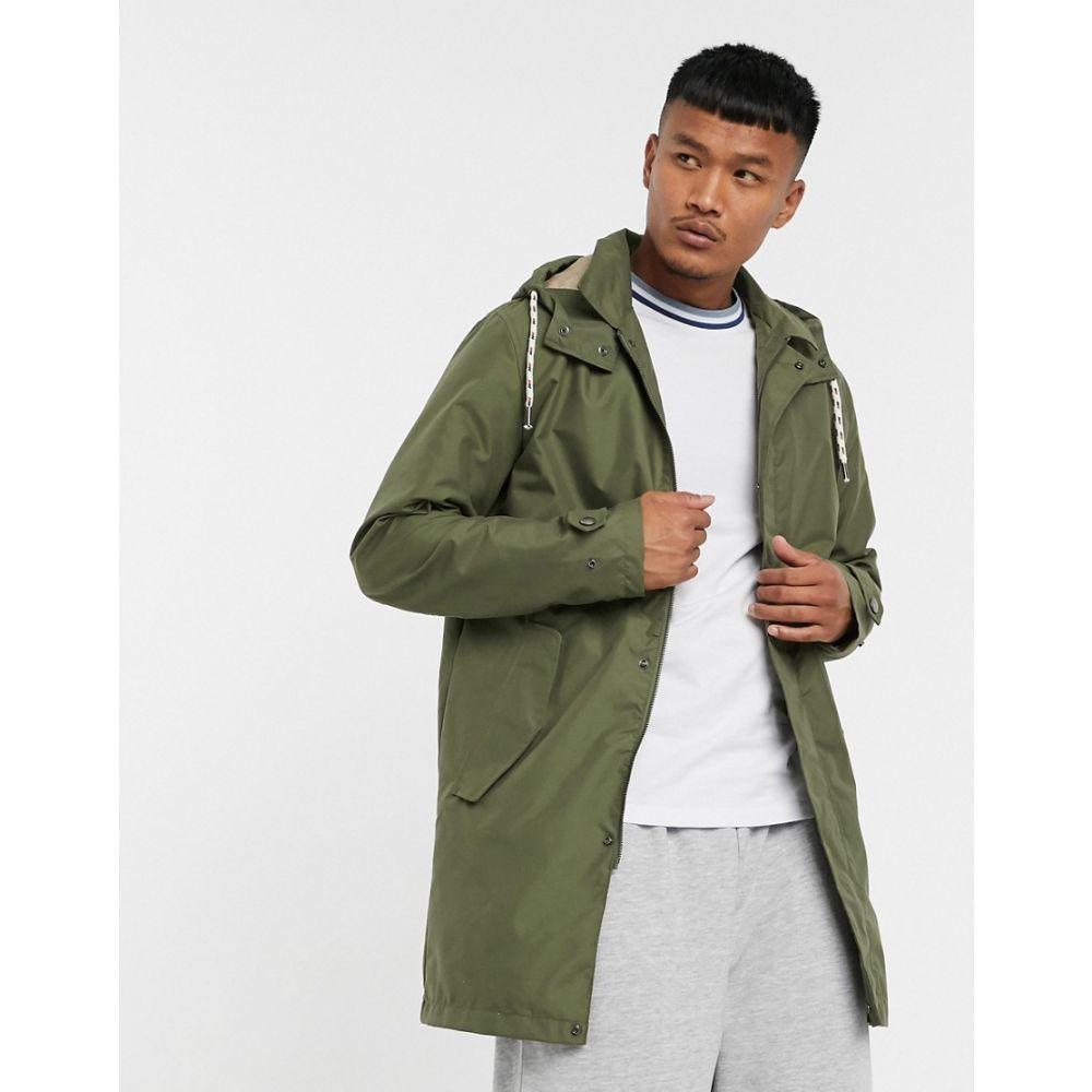 ジャック アンド ジョーンズ Jack & Jones メンズ コート ロング アウター【Originals longline parka jacket in khaki】Dusty olive