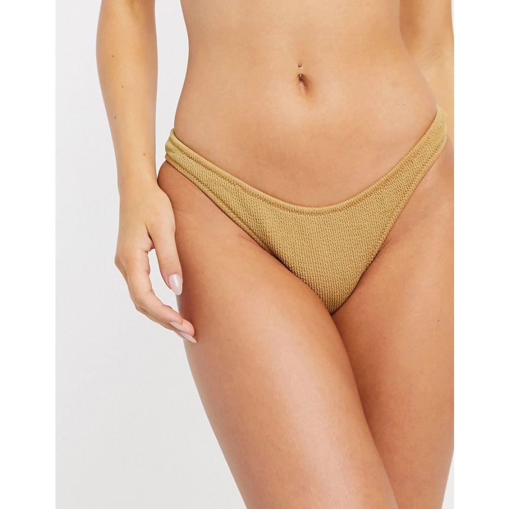 ベック アンド ブリッジ Bec & Bridge レディース ボトムのみ 水着・ビーチウェア【bombora crinkle bikini bottoms】Caramel