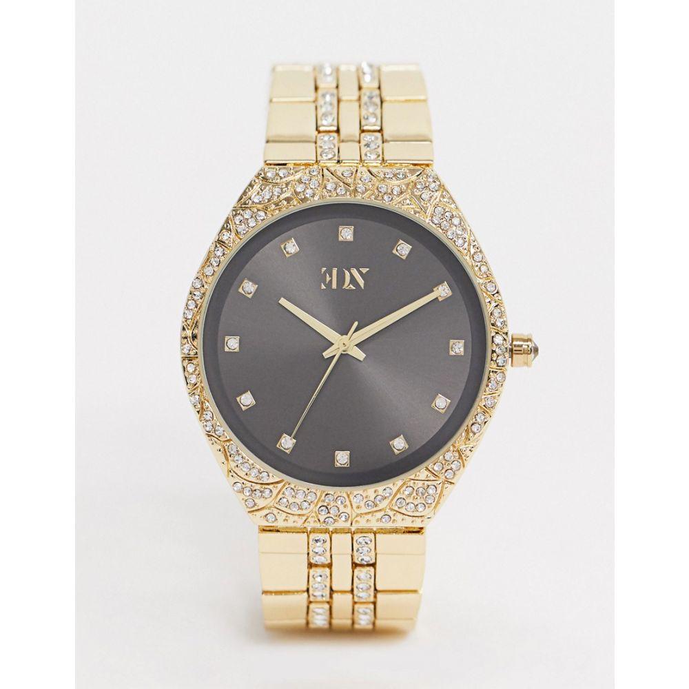 エイソス ASOS EDITION メンズ 腕時計 ブレスレットウォッチ【bracelet watch in gold with crystals】Gold