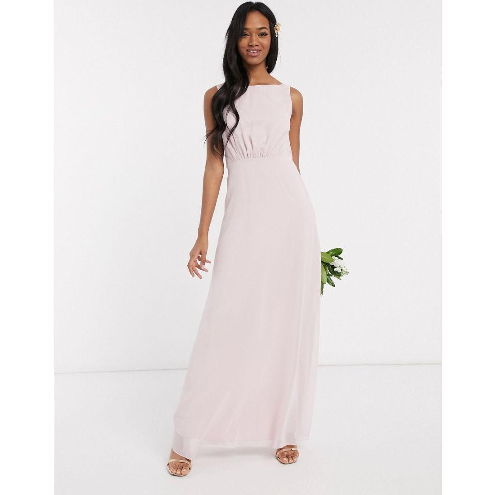 メイドトゥーメジャー Maids to Measure レディース ワンピース ワンピース・ドレス【bridesmaid cowl back chiffon dress】Blossom