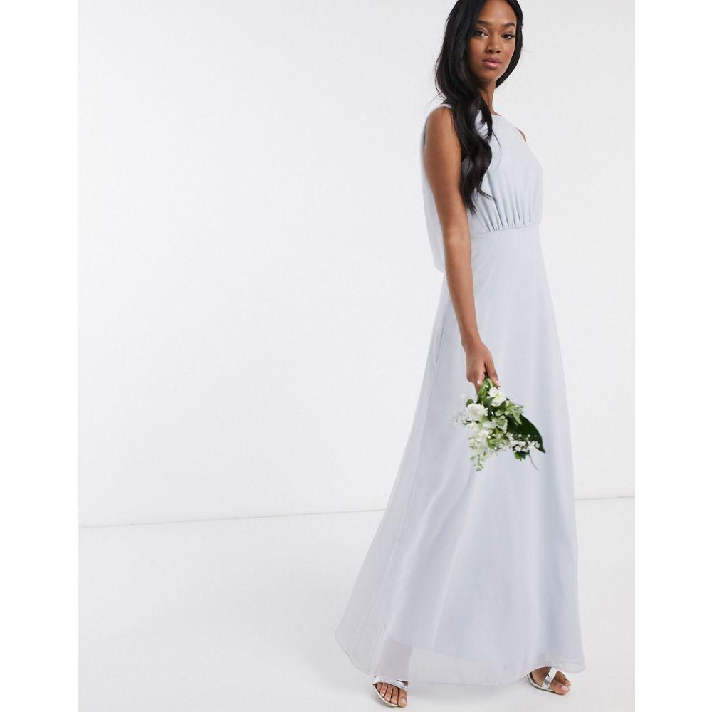 メイドトゥーメジャー Maids to Measure レディース ワンピース ワンピース・ドレス【bridesmaid cowl back chiffon dress】Cloud