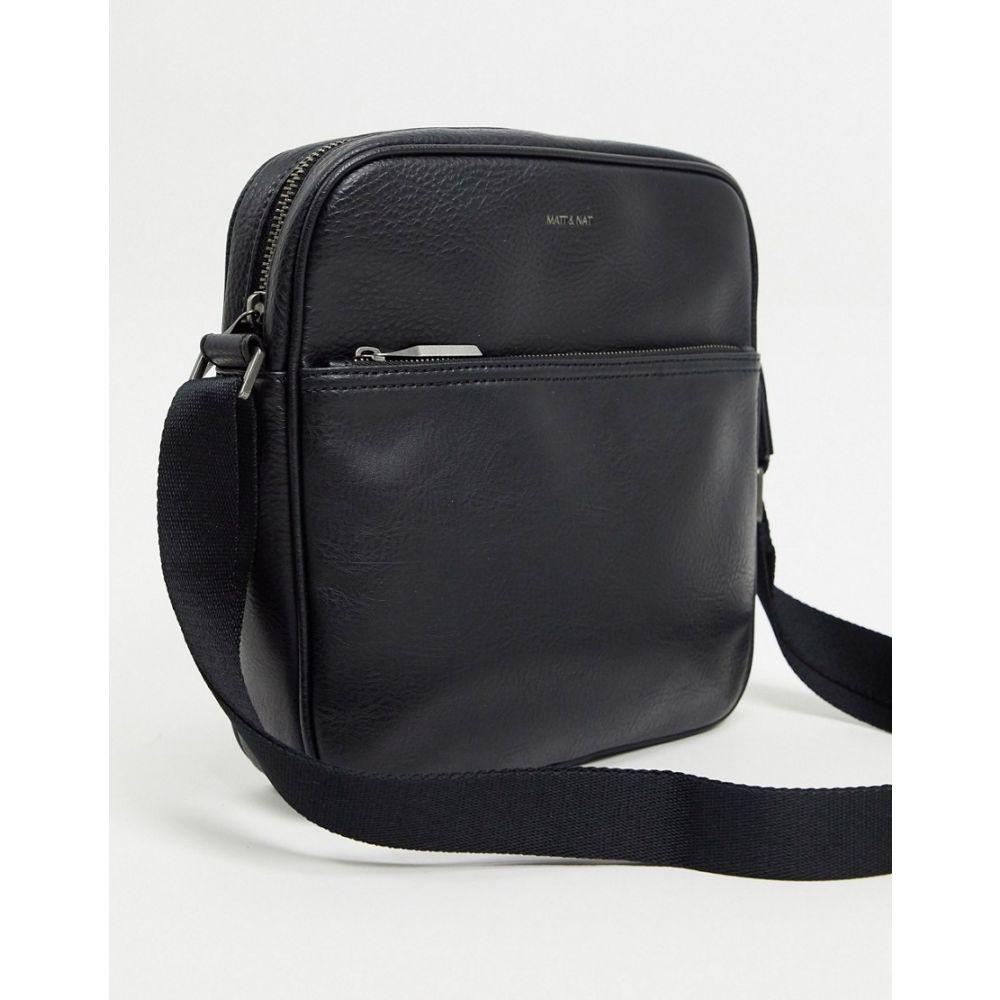 マット アンド ナット matt & nat メンズ ショルダーバッグ バッグ【Matt & Nat vegan recycled flight bag】Black