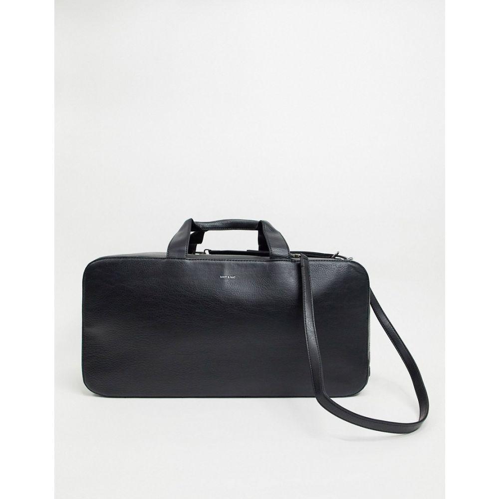 マット アンド ナット matt & nat メンズ ボストンバッグ・ダッフルバッグ バッグ【Matt & Nat vegan recycled backpack】Black