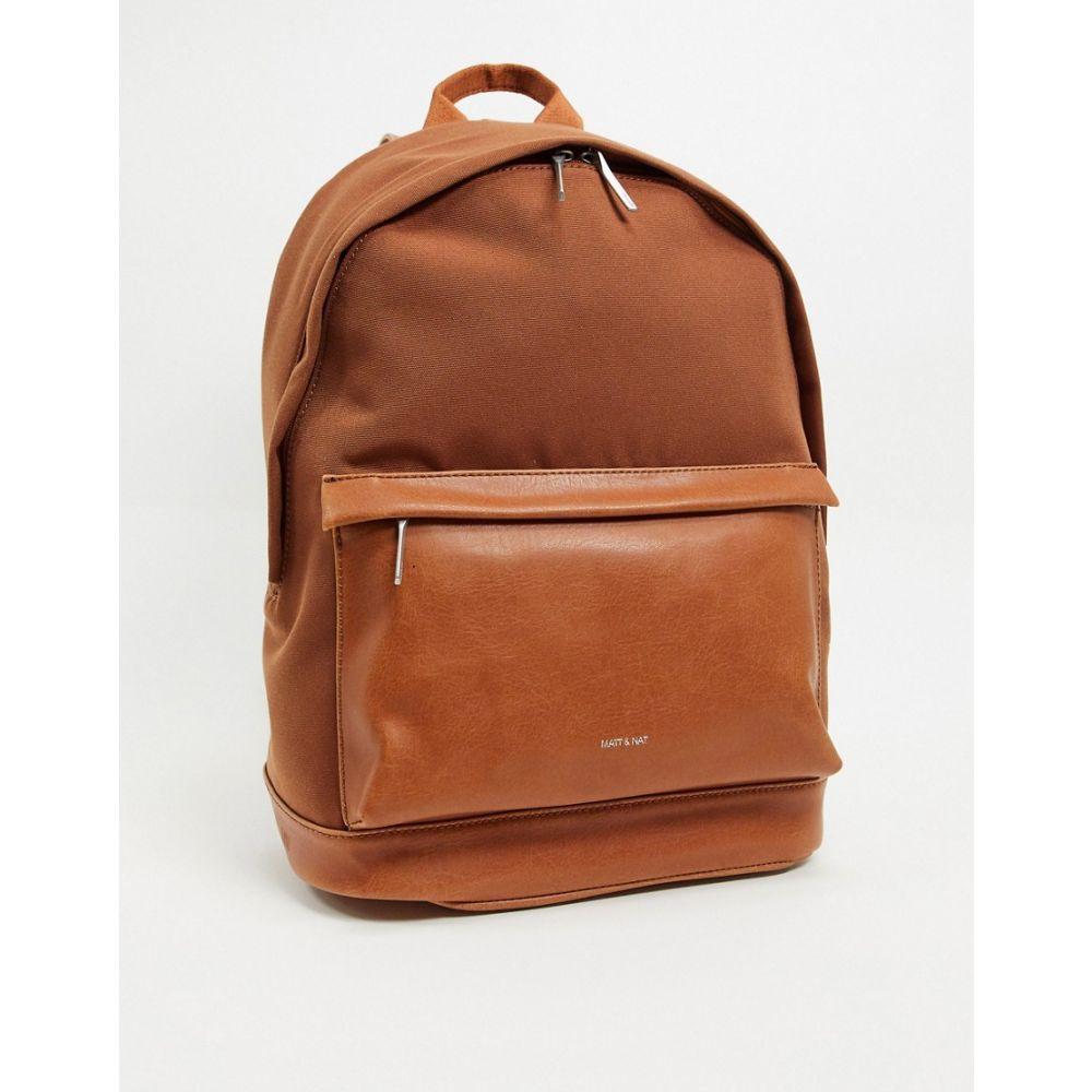 マット アンド ナット matt & nat メンズ バックパック・リュック バッグ【Matt & Nat recycled canvas backpack】Brown