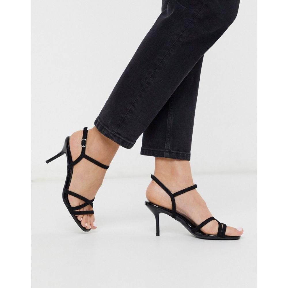 ニュールック New Look レディース サンダル・ミュール シューズ・靴【strappy heeled sandals in black】Black